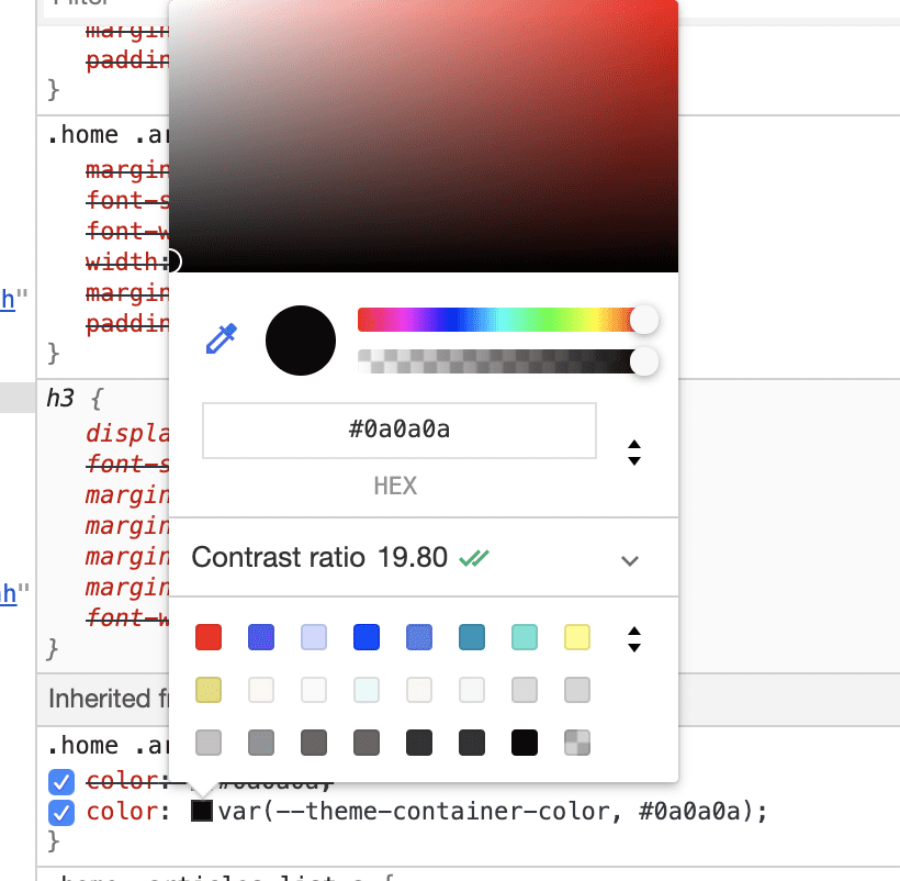 How color contrast looks